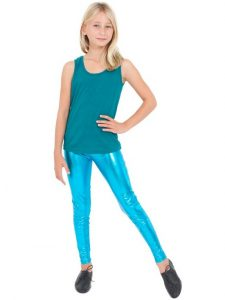 Blue Metallic Leggings Images