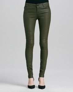 Images of Green Leather Leggings