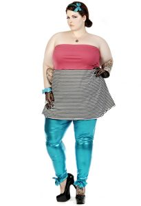 Images of Plus Size Metallic Leggings