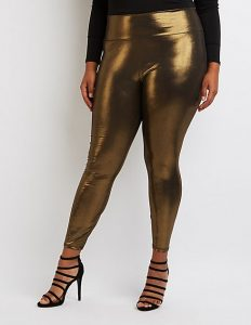 Metallic Plus Size Leggings