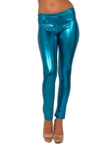 Pictures of Blue Metallic Leggings