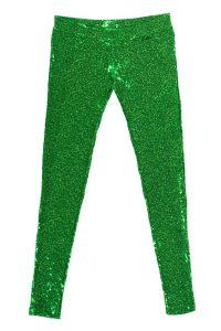 Pictures of Green Sequin Leggings