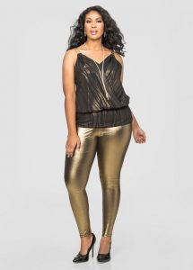 Plus Size Metallic Leggings Photos