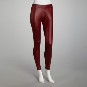 Red Faux Leather Leggings Images