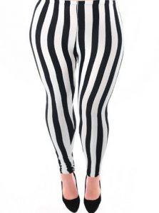 Images of Plus Size Striped Leggings