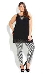 Pictures of Plus Size Striped Leggings