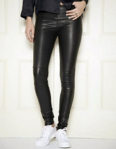 Pictures of Stretch Leather Leggings