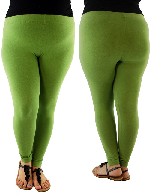 Plus Size Green Leggings