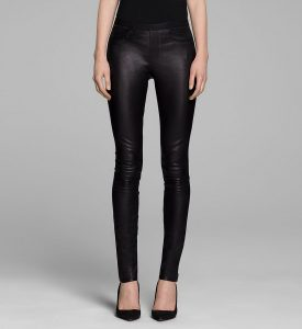 Stretch Leather Leggings Images